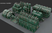 Engine room devices 3d model