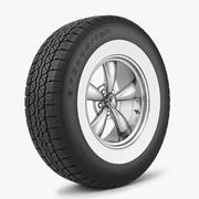 野马布利特轮毂和轮胎BFGoodrich 3d model