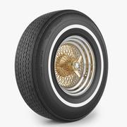 钢丝轮和轮胎Fire石 3d model