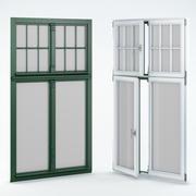 Ahşap çift pencere 3d model