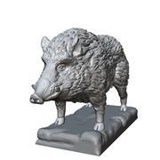 escultura de jabalí modelo 3d