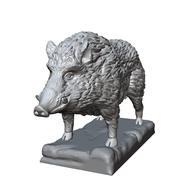 scultura di cinghiale 3d model