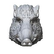 escultura de cabeza de jabalí modelo 3d