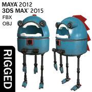 愚かなロボット 3d model