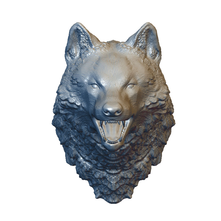 Cabeza de lobo sólido royalty-free modelo 3d - Preview no. 1