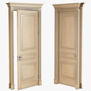 Hight classic single wood door 3d model