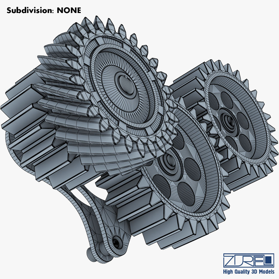 Gear mechanism v 5 royalty-free 3d model - Preview no. 32