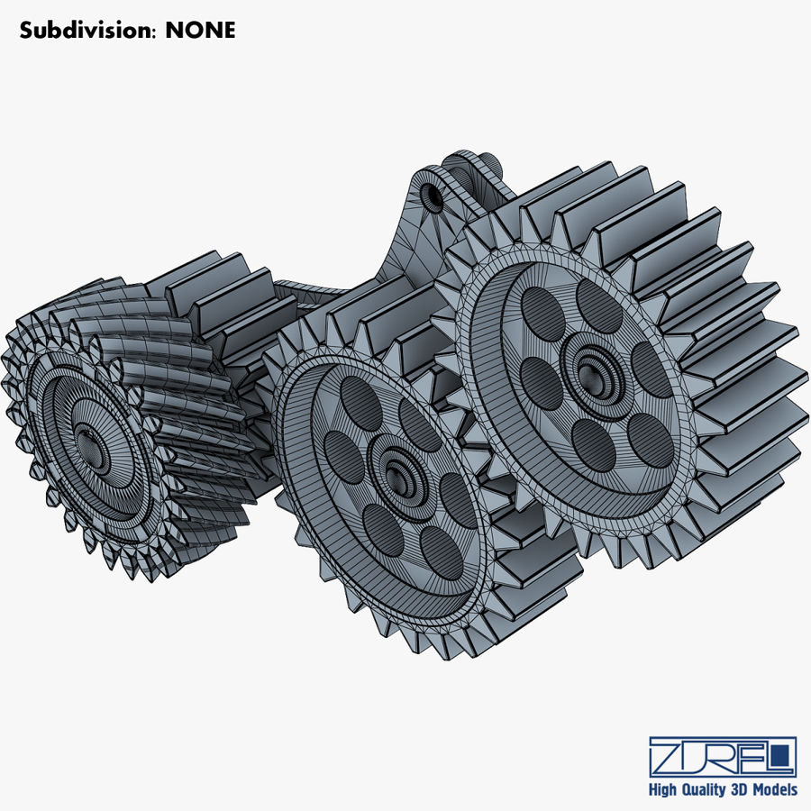 Gear mechanism v 5 royalty-free 3d model - Preview no. 30