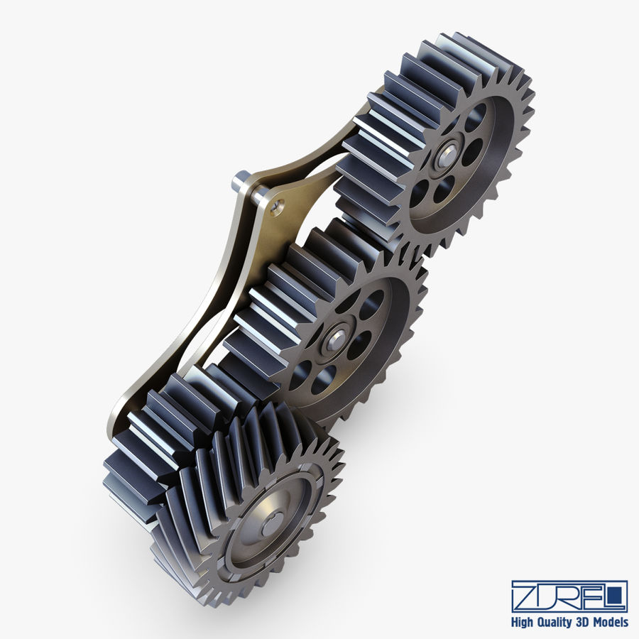 Gear mechanism v 5 royalty-free 3d model - Preview no. 7