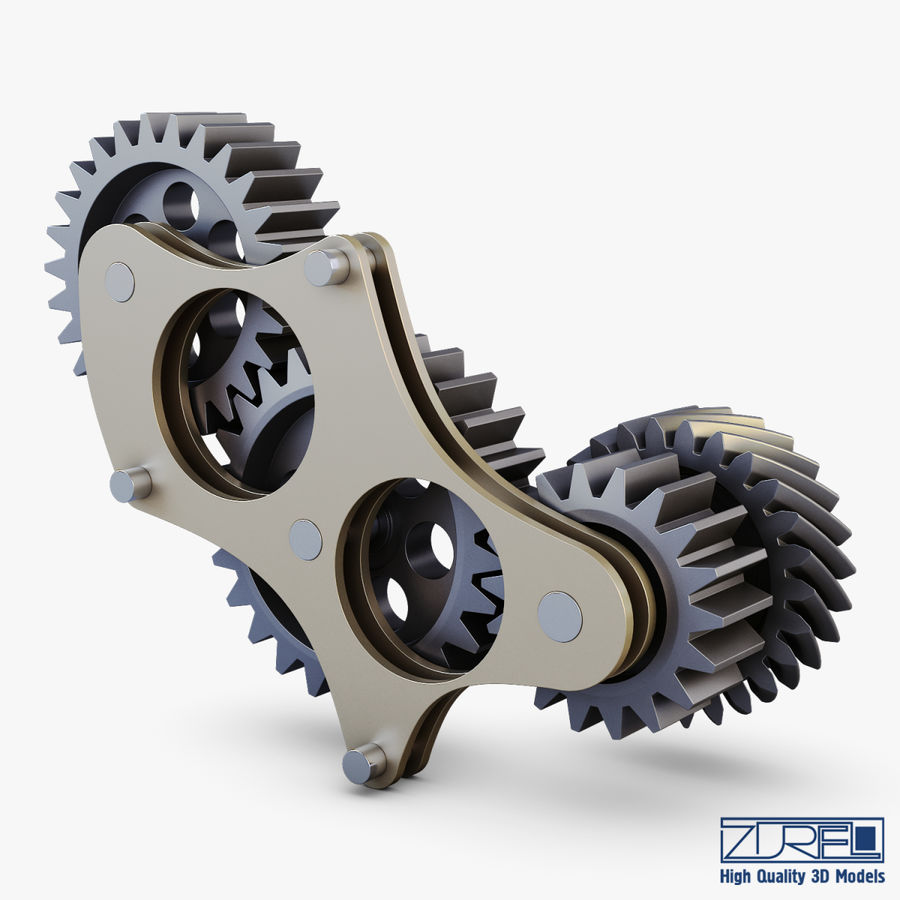 Gear mechanism v 5 royalty-free 3d model - Preview no. 3