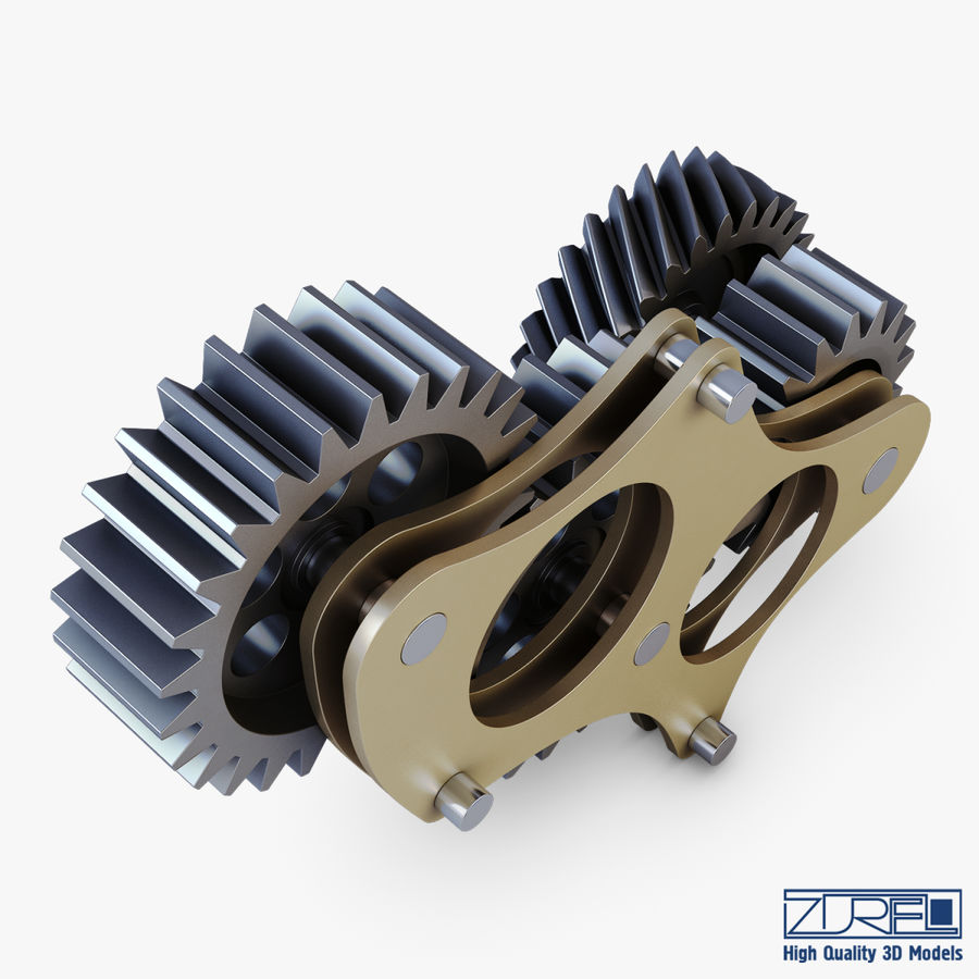 Gear mechanism v 5 royalty-free 3d model - Preview no. 8