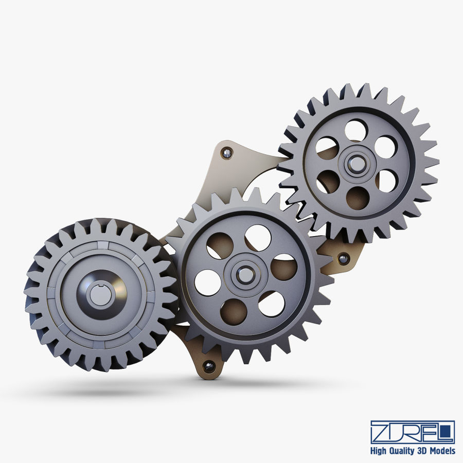 Gear mechanism v 5 royalty-free 3d model - Preview no. 5