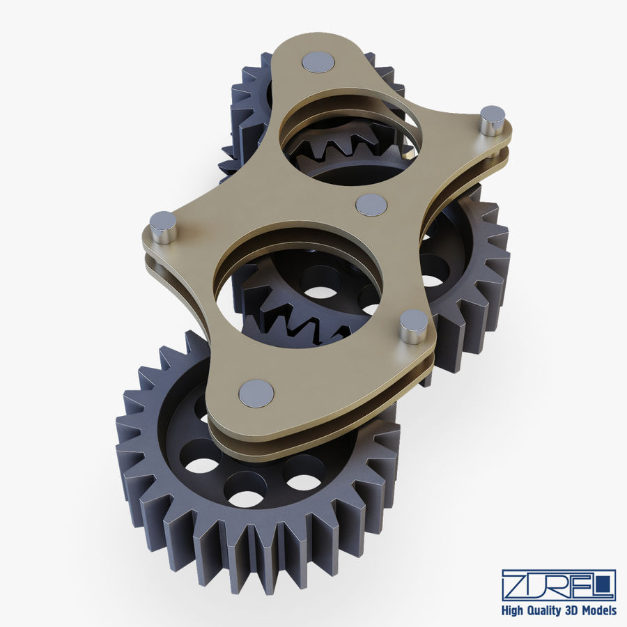 Gear mechanism v 5 royalty-free 3d model - Preview no. 15