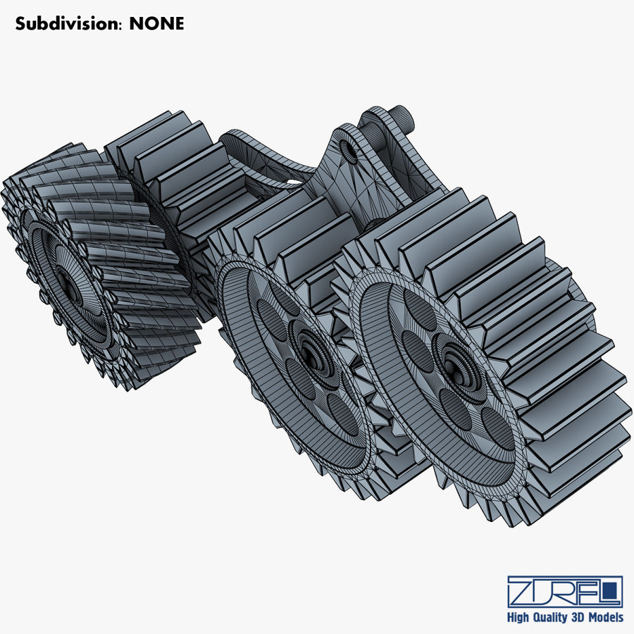 Gear mechanism v 5 royalty-free 3d model - Preview no. 38