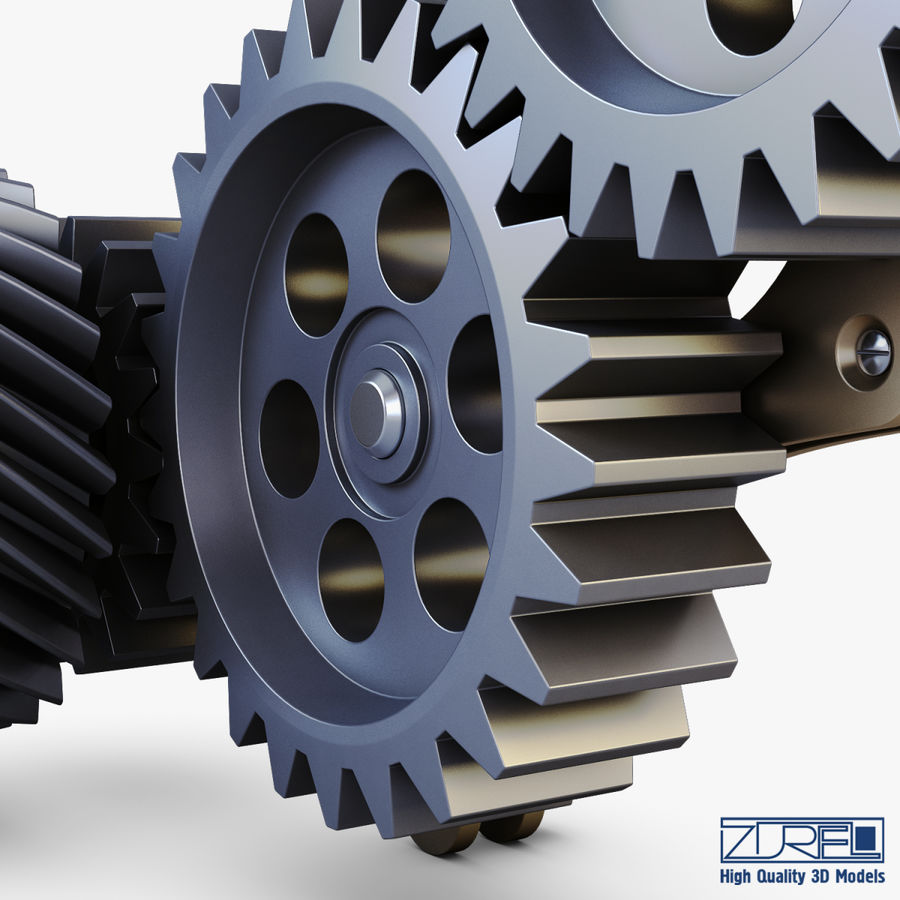 Gear mechanism v 5 royalty-free 3d model - Preview no. 20