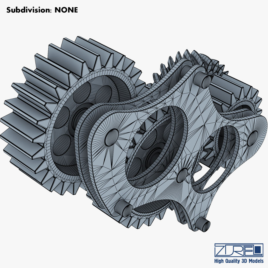 Gear mechanism v 5 royalty-free 3d model - Preview no. 29