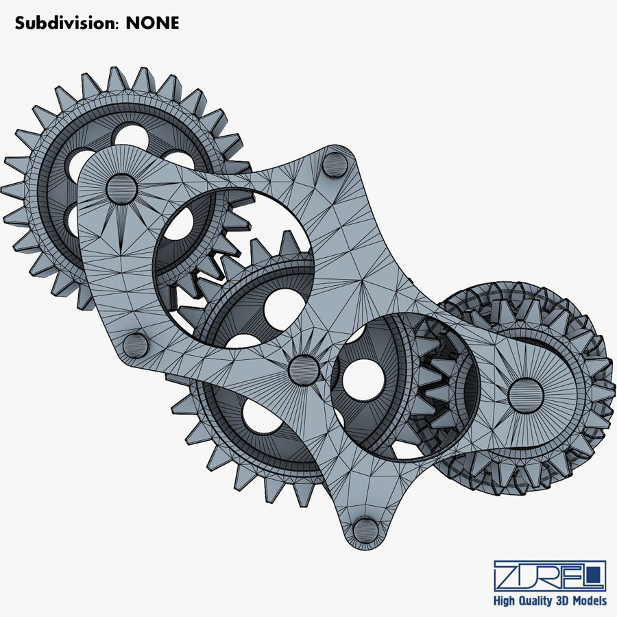 Gear mechanism v 5 royalty-free 3d model - Preview no. 37
