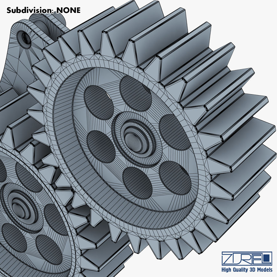 Gear mechanism v 5 royalty-free 3d model - Preview no. 40