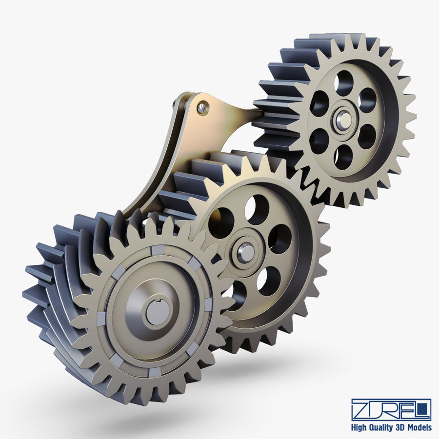 Gear mechanism v 5 royalty-free 3d model - Preview no. 1