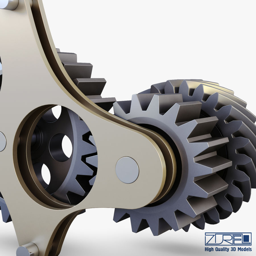 Gear mechanism v 5 royalty-free 3d model - Preview no. 26