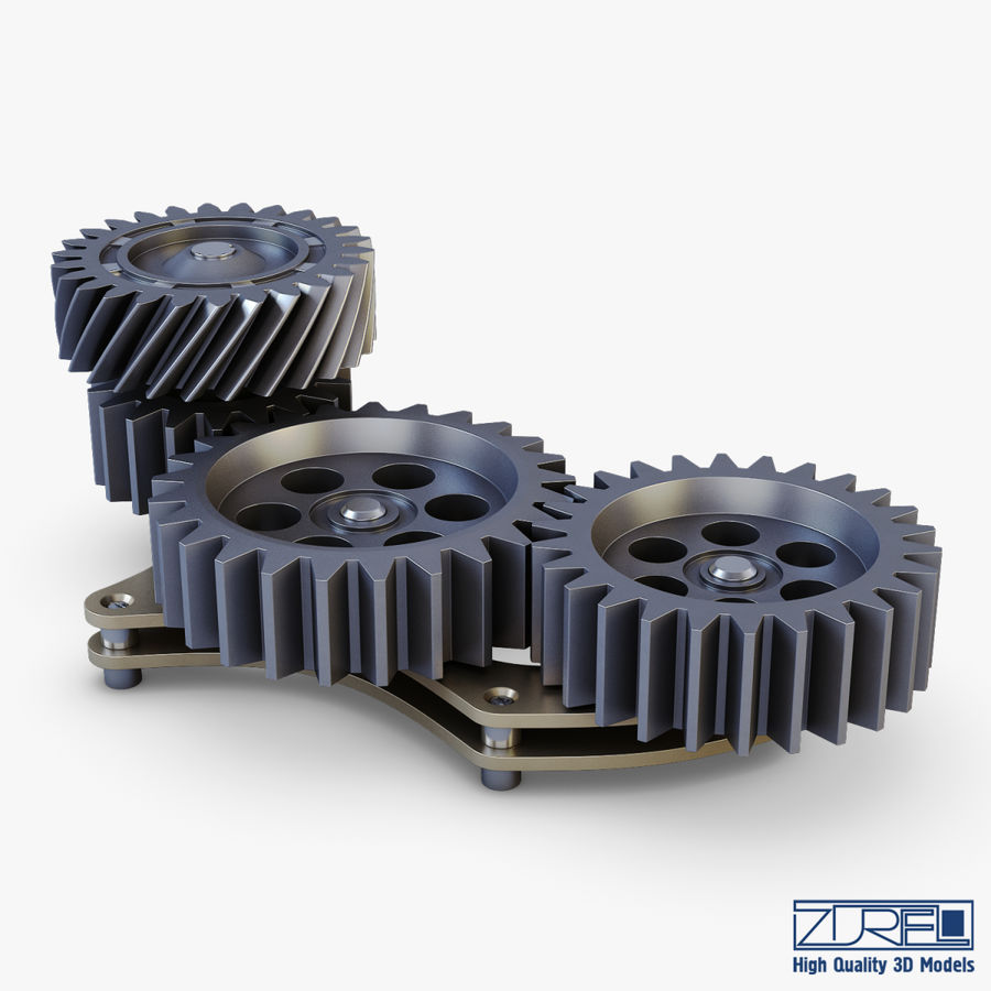 Gear mechanism v 5 royalty-free 3d model - Preview no. 14