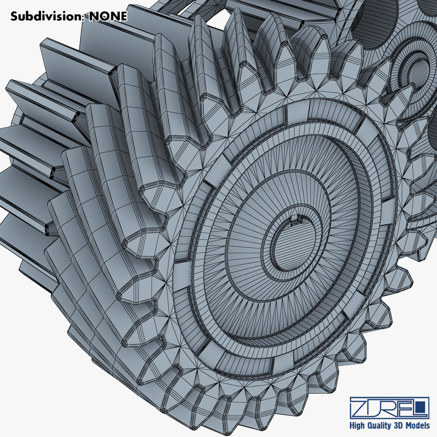 Gear mechanism v 5 royalty-free 3d model - Preview no. 41
