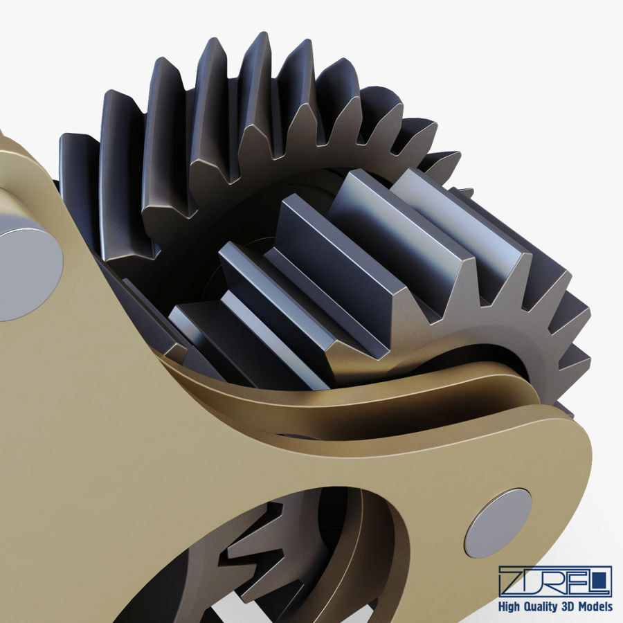 Gear mechanism v 5 royalty-free 3d model - Preview no. 24