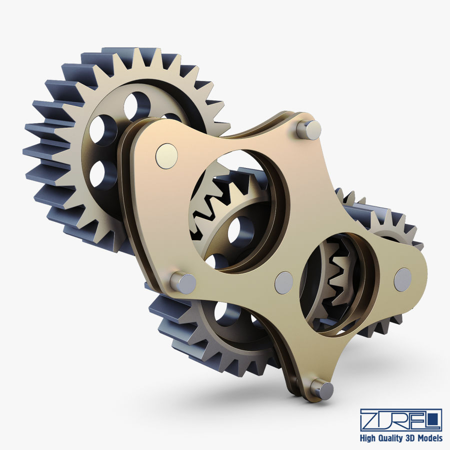Gear mechanism v 5 royalty-free 3d model - Preview no. 4