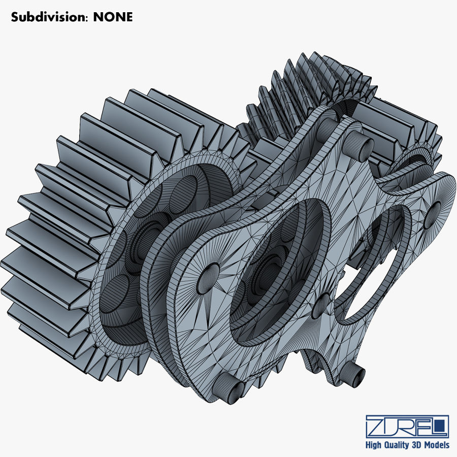 Gear mechanism v 5 royalty-free 3d model - Preview no. 39