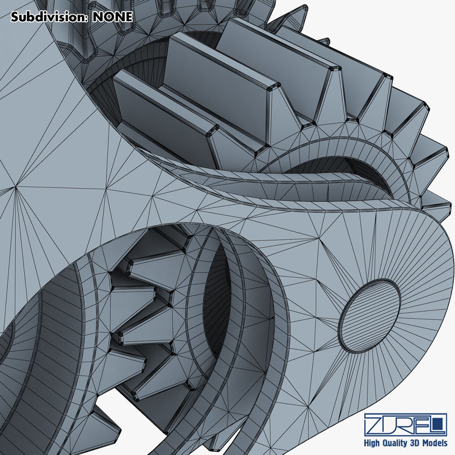Gear mechanism v 5 royalty-free 3d model - Preview no. 44