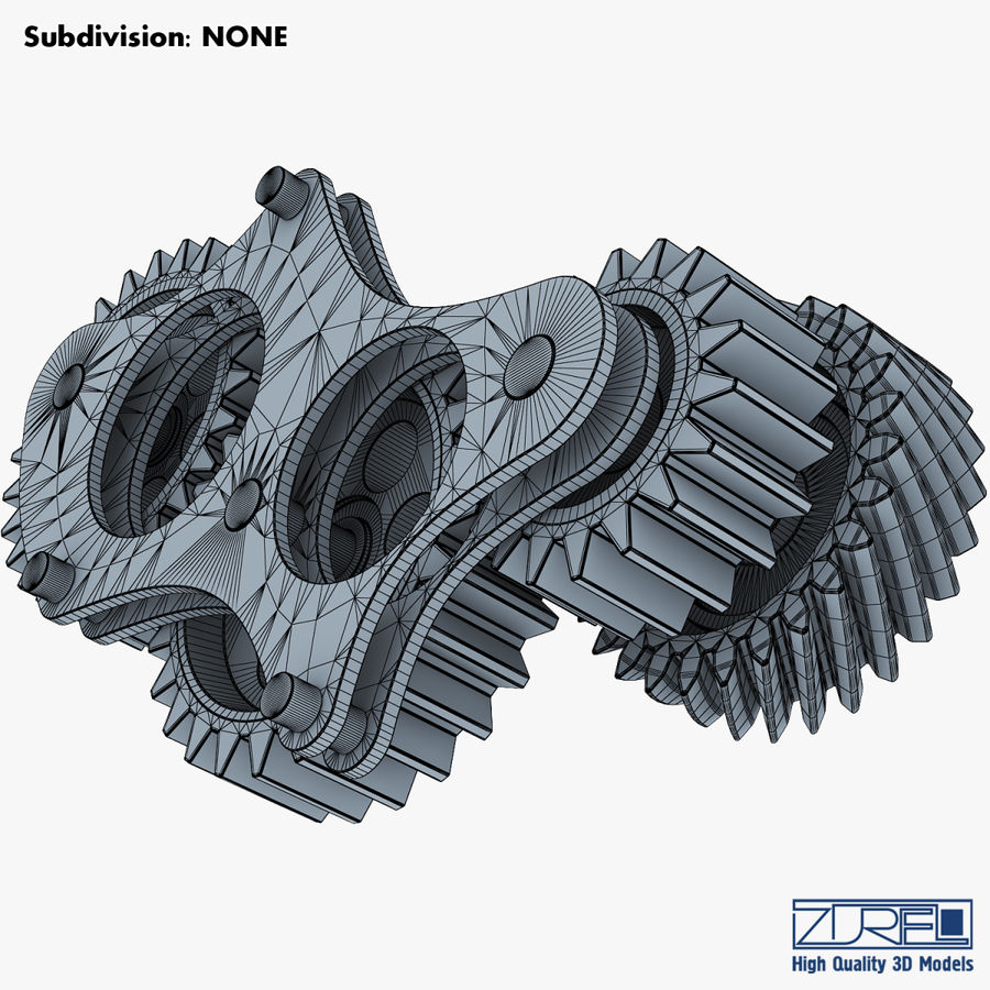 Gear mechanism v 5 royalty-free 3d model - Preview no. 35