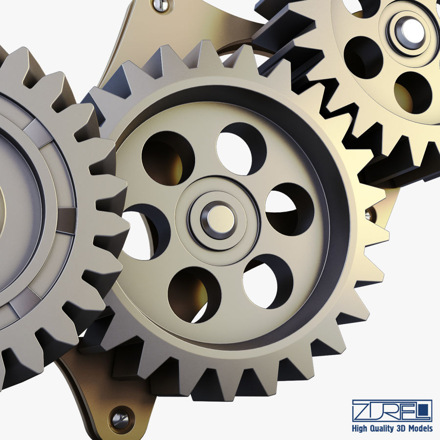 Gear mechanism v 5 royalty-free 3d model - Preview no. 19