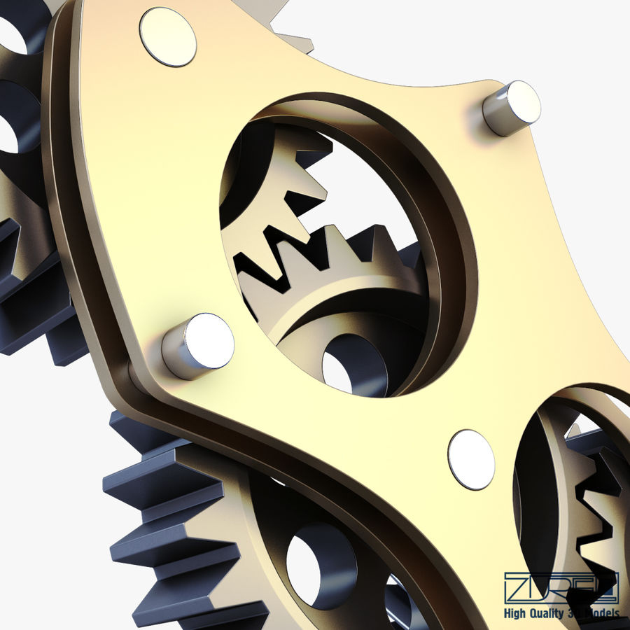Gear mechanism v 5 royalty-free 3d model - Preview no. 25