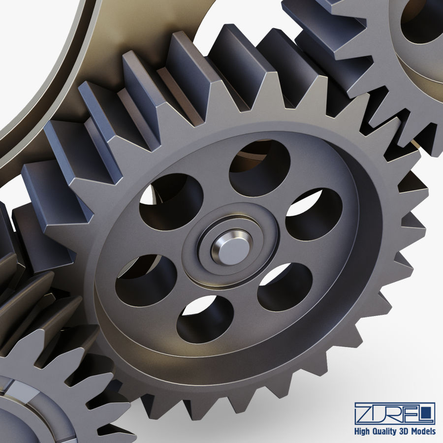 Gear mechanism v 5 royalty-free 3d model - Preview no. 18
