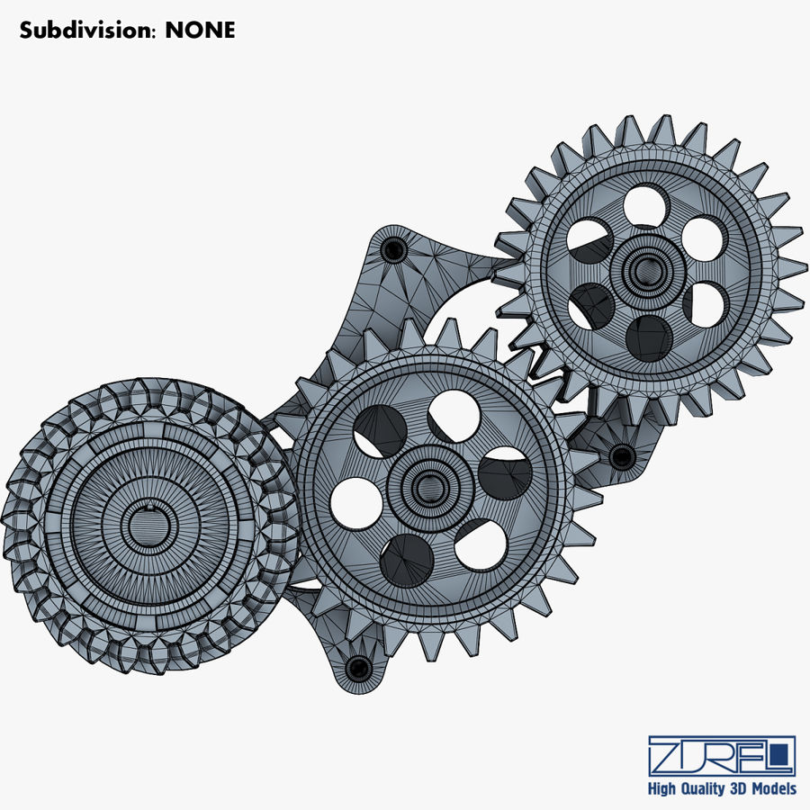 Gear mechanism v 5 royalty-free 3d model - Preview no. 36