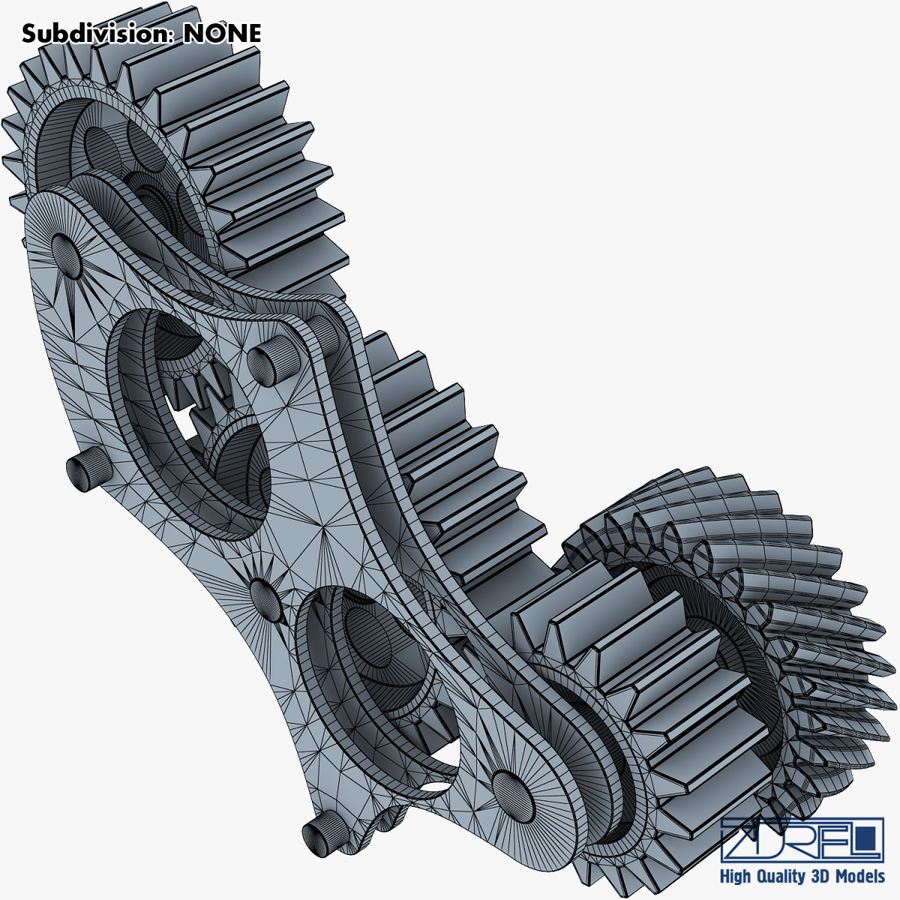 Gear mechanism v 5 royalty-free 3d model - Preview no. 31