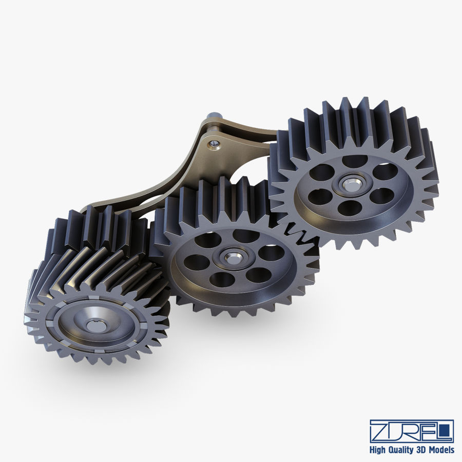 Gear mechanism v 5 royalty-free 3d model - Preview no. 9