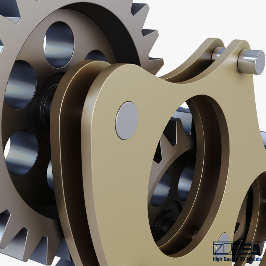 Gear mechanism v 5 royalty-free 3d model - Preview no. 23
