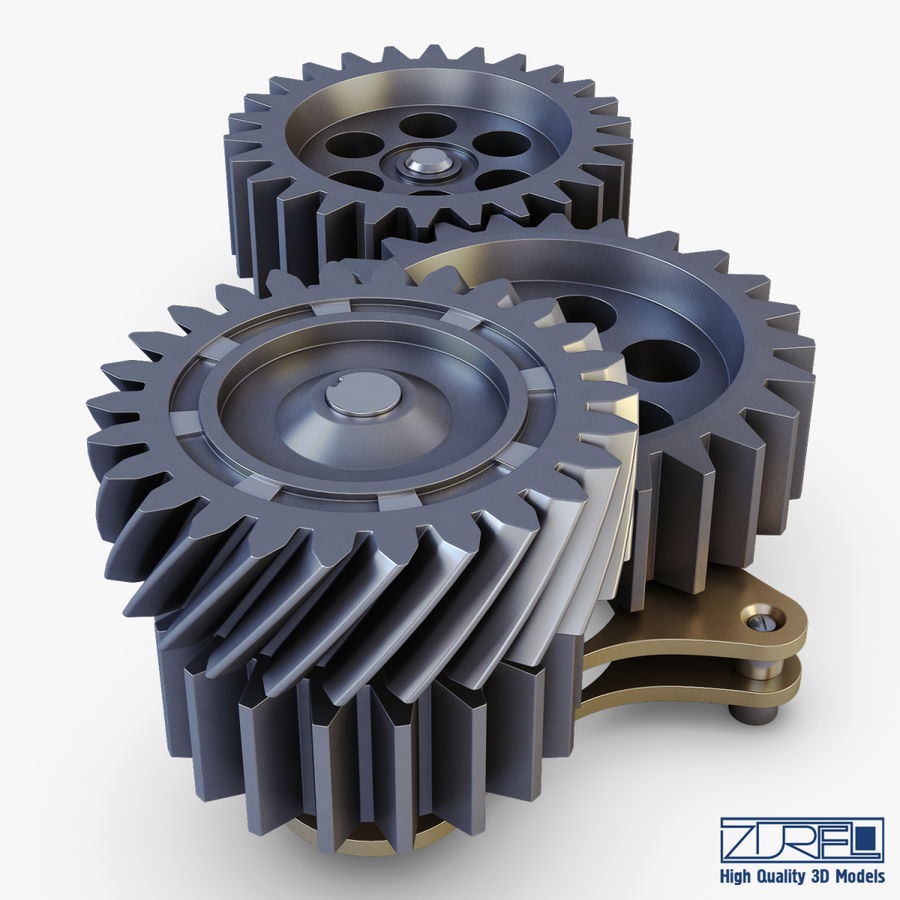 Gear mechanism v 5 royalty-free 3d model - Preview no. 13