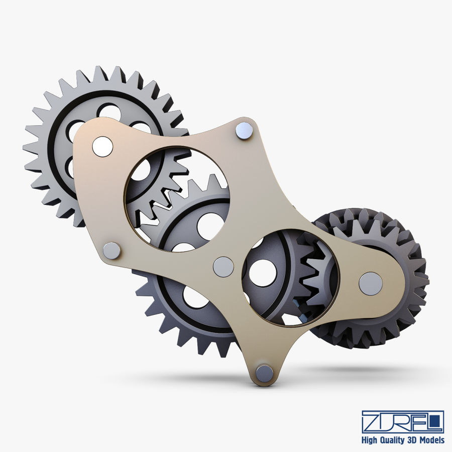 Gear mechanism v 5 royalty-free 3d model - Preview no. 6