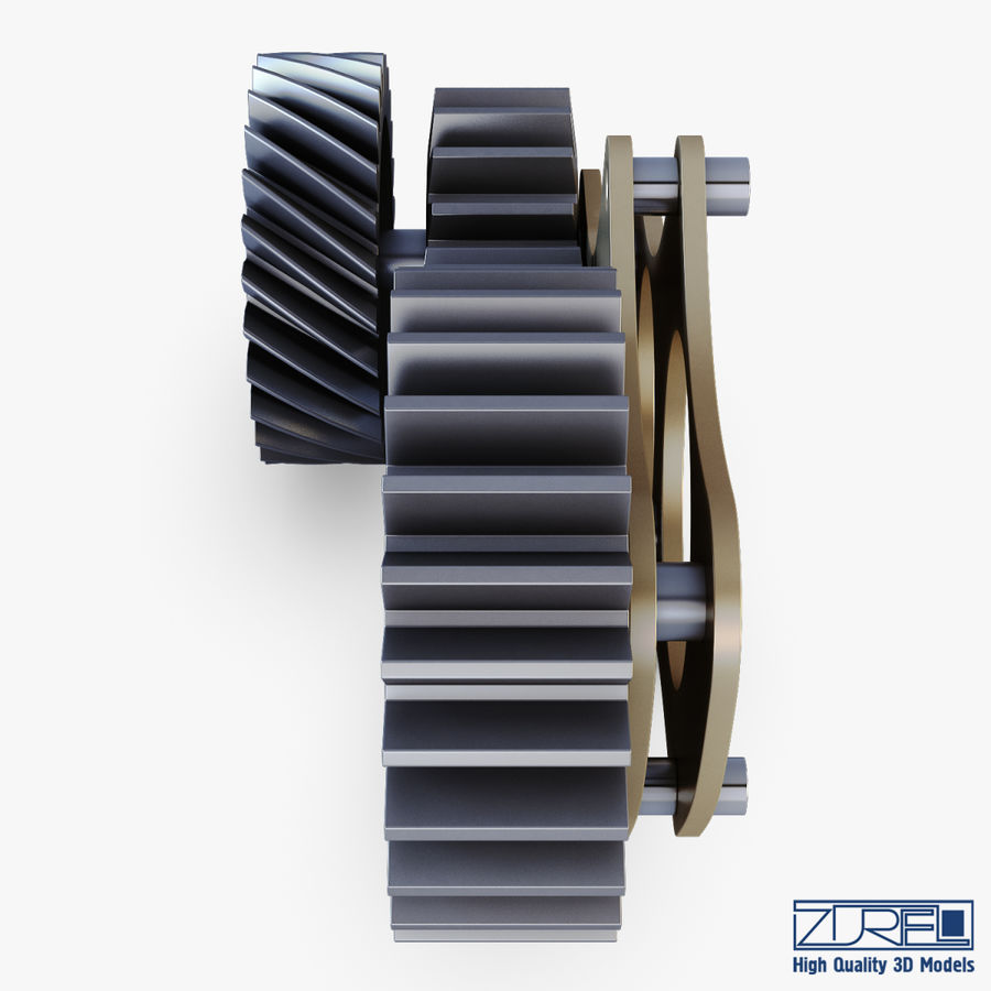 Gear mechanism v 5 royalty-free 3d model - Preview no. 10
