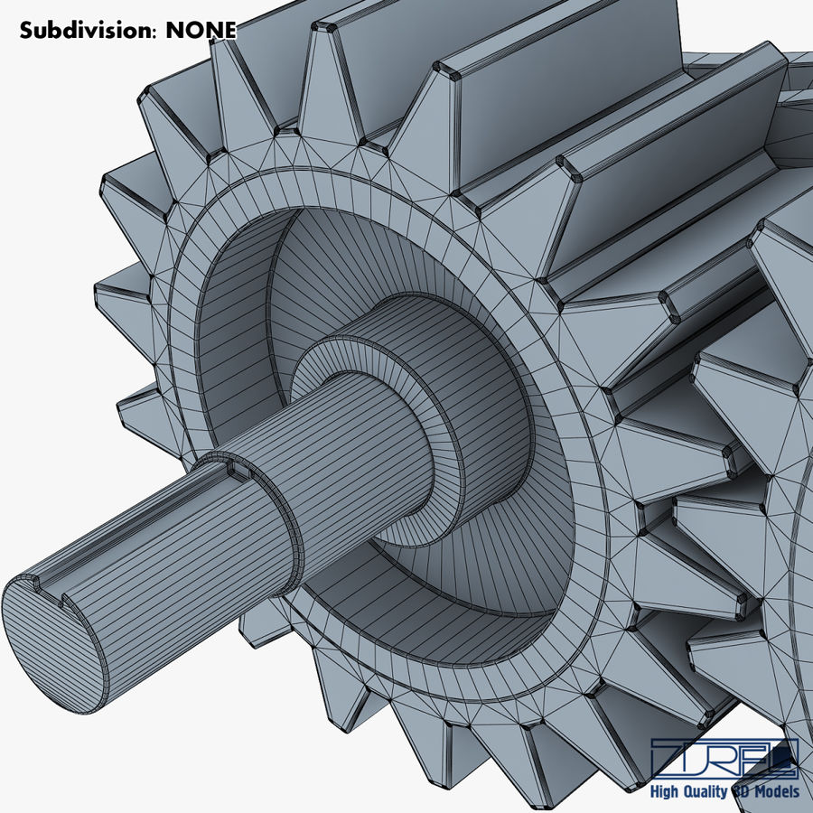 Gear mechanism v 5 royalty-free 3d model - Preview no. 42