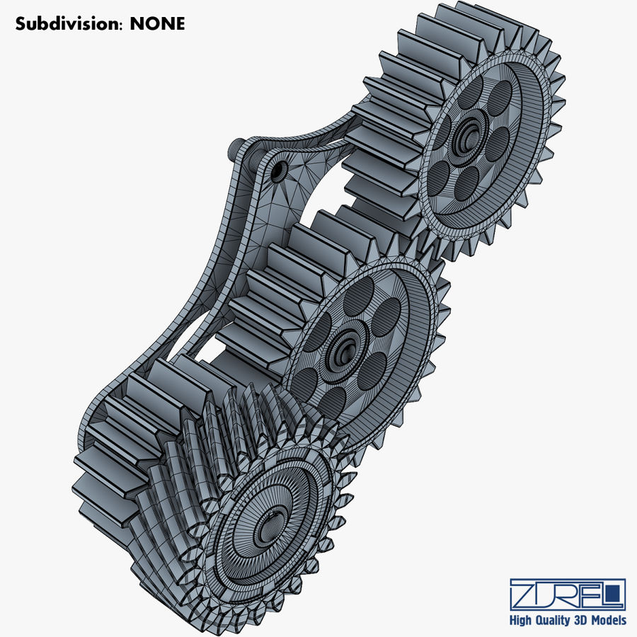 Gear mechanism v 5 royalty-free 3d model - Preview no. 28