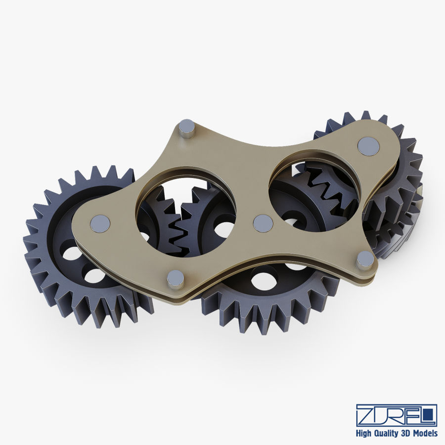 Gear mechanism v 5 royalty-free 3d model - Preview no. 16