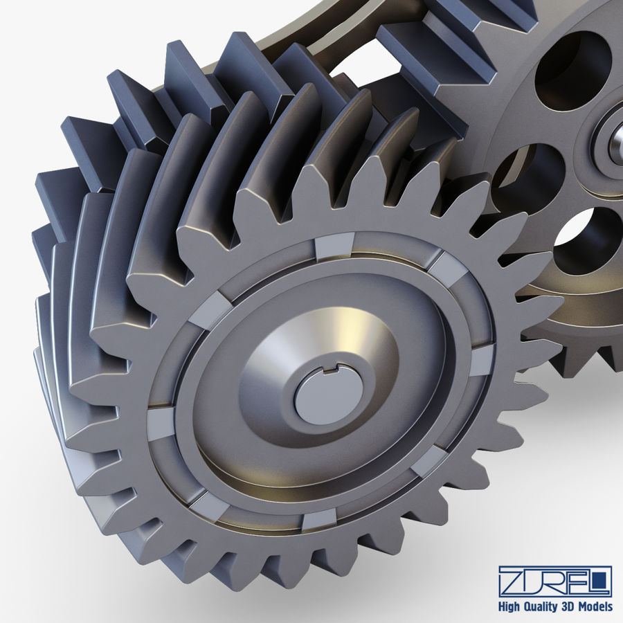 Gear mechanism v 5 royalty-free 3d model - Preview no. 17