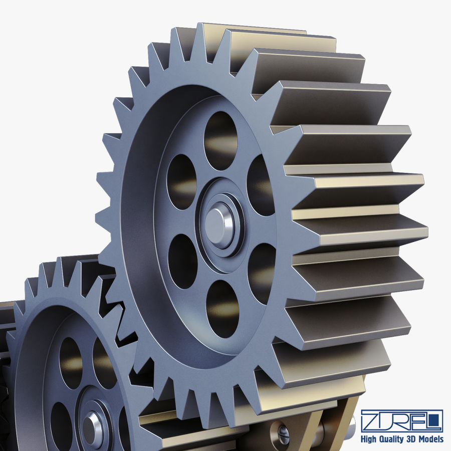 Gear mechanism v 5 royalty-free 3d model - Preview no. 21