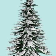 Árbol de nieve modelo 3d