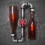 steampunk lambası 3d model