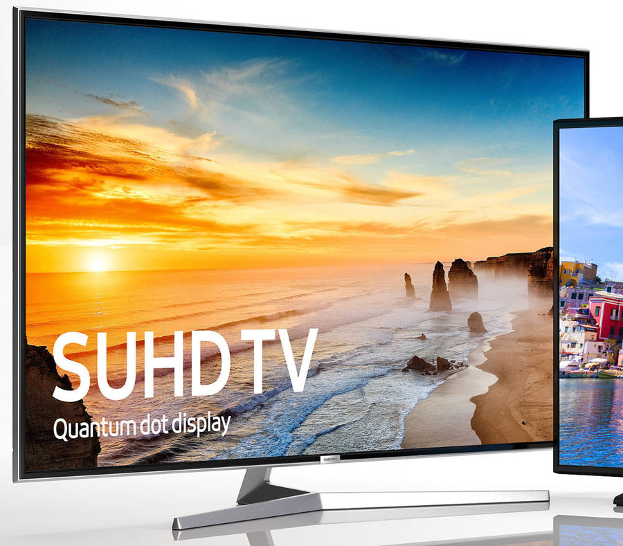 SAMSUNG TV 65 UHD 4k and 55 UHD 4k royalty-free 3d model - Preview no. 3