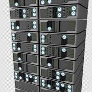 Server Rack 3d model. Vray materials included 3d model